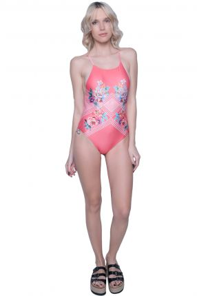 Minkpink - Bloomin Beach Low Back Onepiece Swimsuit